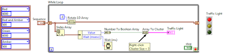 Traffic Light Order Solved I Want To Create A Traffic Light Sequence In Labview