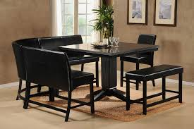 Dining Room Benches With Backs Endearing Design Leather Bench With Back Style Home Furniture