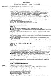 resume exles for restaurant restaurant general manager resume sles velvet