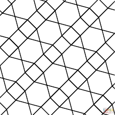 geometric tessellation with hexagon triangle and square coloring