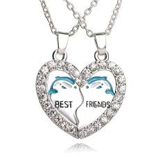 best diamond necklace images Dolphin penguin anchor pendant best friends love diamond necklace jpg