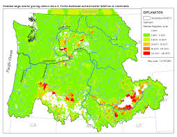 Pacific Northwest Map Potential Range Land For Grazing Cattle In The United States
