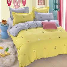 King Size Cotton Duvet Cover Bedding Sets Bedding Ideas Bedding Interior Yellow Seafaring