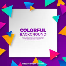background with colorful triangles vector free download