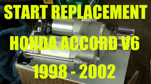2002 honda accord change honda accord v6 3 0l starter motor replacement years 1998 2002