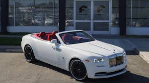 rolls royce white convertible white rolls royce dawn on black forgiatos vision 2017