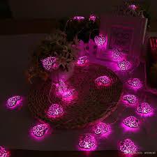 cheap new 5m fairy lights led iron heart string lights garland