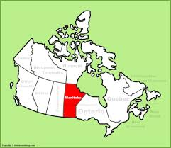 A Map Of Canada by Manitoba Location On The Canada Map
