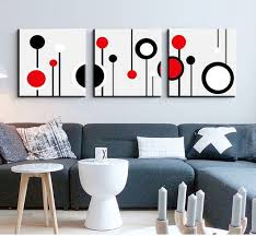 3 piece canvas wall art wall picture modern wall abstract oil canvas painting black white and