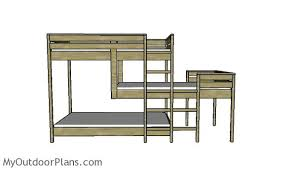 Plans For Triple Bunk Beds by Triple Bunk Bed Plans Myoutdoorplans Free Woodworking Plans