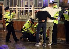 Christmas Party Nights Blackpool - britain u0027s high streets turn into warzones on black eye friday