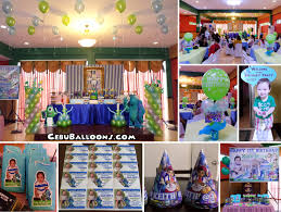 Monster Inc Decorations Monster Theme Balloon Decoration And Standees Cebu Balloons And