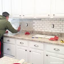 kitchen backsplash subway tile how to install a kitchen backsplash the best and easiest