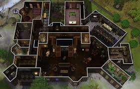 sims 3 floor plan carson mansion floor plan marvelous house addams family sims charvoo