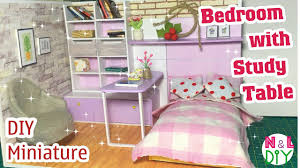 how to make a bed table diy miniature bedroom with study table how to make a bedroom with