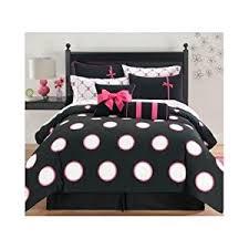 Pink And Brown Comforter Sets Amazon Com Pink U0026 Black Polka Dots Twin Comforter Set 8
