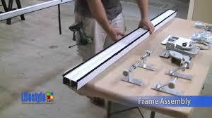 single garage screen door lifestyle screens garage door screens frame assembly youtube