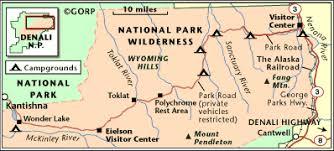 denali national park map route map denali national park