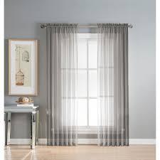 Sheer Gray Curtains Window Elements Sheer Sheer Gray Rod Pocket Wide