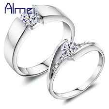 fashion couples rings images 49 off fashion crystal silver couple rings for men and women jpg