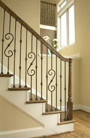 Banister For Stairs Metal Banisters And Handrails Round Iron Stair Railing Wrought