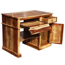 Small Wooden Computer Desks Wood Computer Desk For Small Space