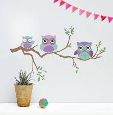 children s wall sticker owl by oakdene designs children s wall sticker owl