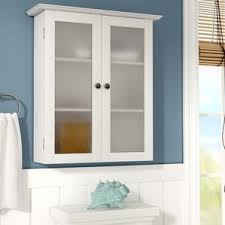 Wall Mounted Cabinet With Glass Doors Wall Mounted Bathroom Cabinets You U0027ll Love Wayfair