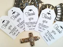 confirmation favors 10 gift tags baptism christening confirmation bomboniere
