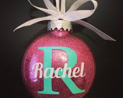 christmas ornaments with initials initials ornament etsy