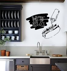Vinyl Stickers For Kitchen Cabinets Vinyl Wall Decal Dog Fast Food Cook Canteen Kitchen Stickers
