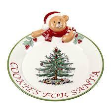spode christmas tree teddy bear cookies for santa platter u2022 39 00
