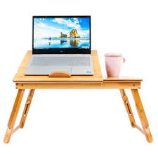 Laptop Bed Desk Tray Bamboo Portable Folding Laptop Computer Notebook Table Bed Desk