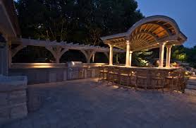 Outdoor Kitchen Lights Kitchen Bars And Grills Outdoor Lighting In Chicago Il