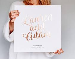 personalized wedding albums book hardcover guest book etsy
