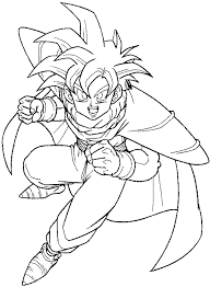 how to draw gohan from dragon ball z with easy step by step