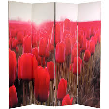 Canvas Room Divider 6 Ft Tall Spring Flowers Canvas Room Divider Roomdividers Com