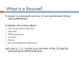 Wat Is A Resume For Vps High Students Ppt Download