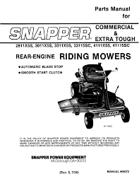 Snapper Lawn Mower 2811x5s User Guide Manualsonline Com
