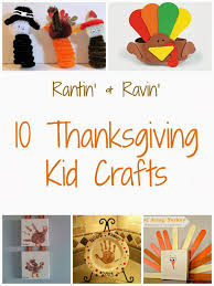 rantin ravin thanksgiving kid crafts