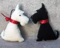 black white scottie ornaments from my own pattern de flickr