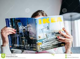 ikea catalog reading ikea catalogue editorial image image 51129360