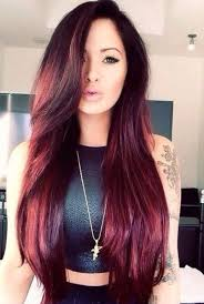 dark brown hair color with red tint hair cuts colors styles