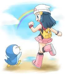 super cute picture dawn piplup pokemon luv