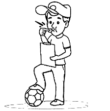 coloring page coach and soccer coloring home