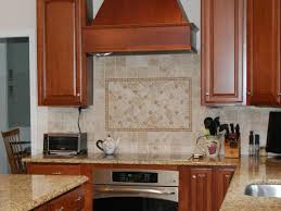 kitchen backsplash tile white dark mahogany wood kitchen cabinet