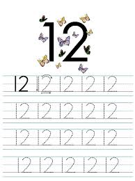 number 12 worksheet for writing number practice loving printable