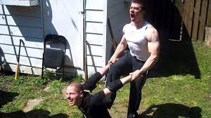 table match eric d vs swede savard chw backyard wrestling