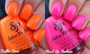 salon perfect neon pop swatch u0026 review peace love u0026 polish