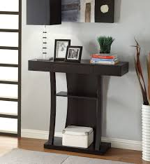 End Table With Shelves by Contemporary Cappuccino Console Sofa Entryway Accent Table With